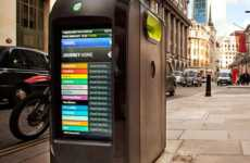 Technological Trash Cans - The 'Techno-Pods' Garbage Bin Design Gives Updates on LED Screens