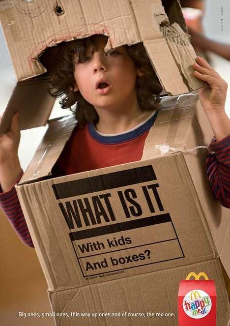 Cardboard Robot Food Ads