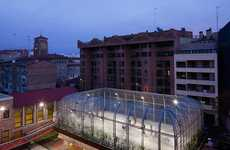 Caged Athletic Areas - The Elevated Sports Court by Guzmán de Yarza Blache Keeps Recreation Sep