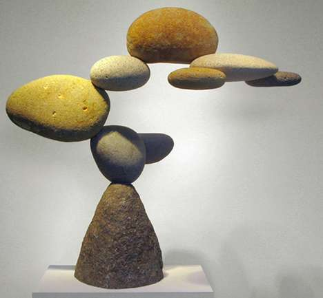 Floating Rock Sculptures