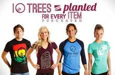 Tree-Planting Eco Clothing - Ten Tree Apparel Plants Ten Trees for Every Item Purchased