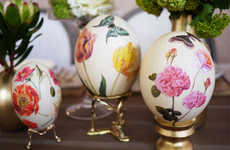 Artistically Accented Floral Eggs - This DIY Decoupage Project Features Beautiful Feminine Designs