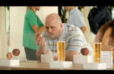 Tech-Mocking Cider Ads - This Ad for Somersby Cider Takes Unsubtle Shots at Apple Product Launches
