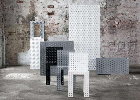 Perforated Modular Furniture