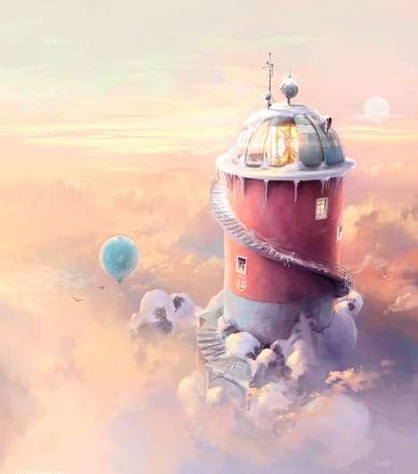 Digital Fantasy Scenery Art