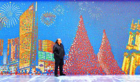 Gigantic Puzzle Cube Mosaics