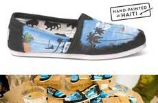 Philanthropic Artistic Shoes - The TOMS Haiti Project Commissioned Artists to Make Limited Edition S