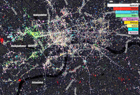 Aerial Tweet Maps - Fast Company Design Aerial Maps Reveal Twitter User Data of NYC and London