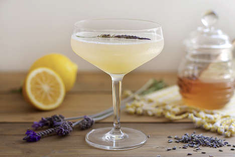 Lavender-Scented Cocktails - This Creative Beverage Recipe Features Lavender and Honey