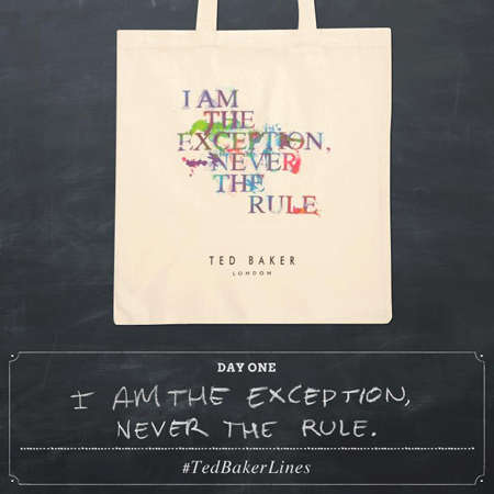 Quote-Posting Marketing Campaigns - Ted Baker Started a Social Media Campaign That Encourages Quotes