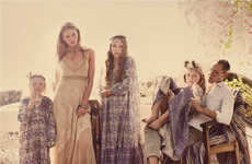Boho Family Fashion Catalogs - The Free People Lookbook is Free-Sprited and Diverse