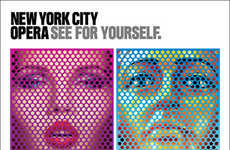 Perforated Musical Poster Ads - The New York City Opera 2013 Campaign is Vibrantly Modern