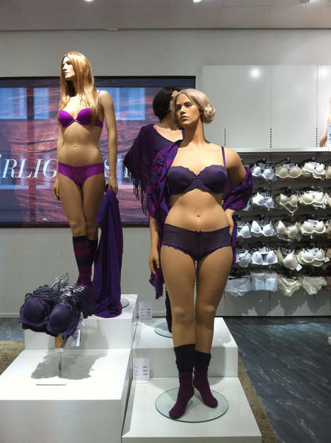Real-Sized Female Mannequins - The Ahlens Mannequins Markets a Healthier Ideal for Beauty