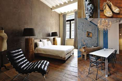 Chocolate-Inspired Accommodations - The Concept Hotel in Brussels Offers Rustic Luxury
