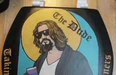 Pop Culture Lavatory Art - Cakeonmyface's The Big Lebowski Mural Uses an Unconventional Canvas