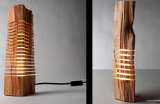 Sliced Jenga Lamps - The Paul Foeckler Split Grain Lighting Concept is Stacked