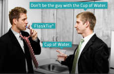 Booze-Concealing Neckwear - This Flask Tie Lets Wearers Conceal Their Booze and Look Good Doing It