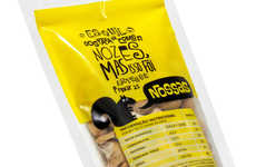Cartoony Typographic Branding - The Casual Quality of Nossos Nuts Packaging Appeals to the Snacker