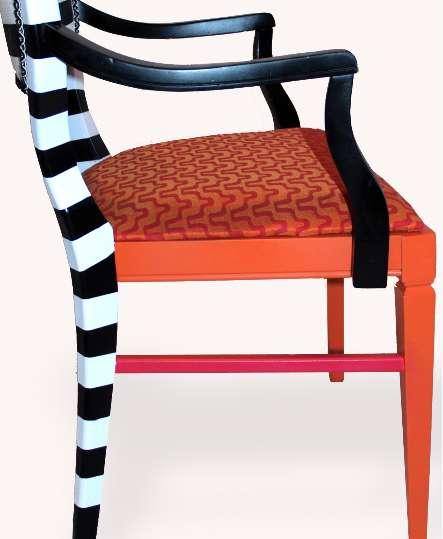 Refurbished Striped Seating