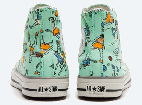 Printed Cartoon Sneakers