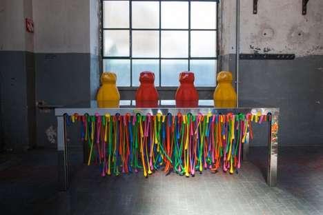 Playful Plastic-Protruding Furniture