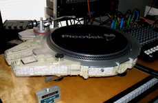 Sci-Fi Ship Turntables - This Millennium Falcon Record Player Can Spin Vinyl in Twelve Parsecs