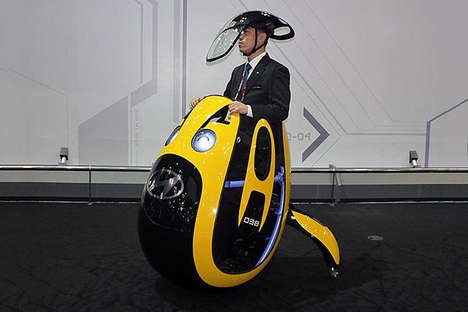 Egg-Shaped Personal Vehicle - The Hyundai E4U Concept is Something Out of a Pixar Film