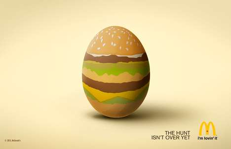Burger-Adorned Egg Ads