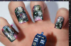 Sci-Fi Nail Designs - These Sci-Fi Nails Showcase Characters from The Doctor Who Series