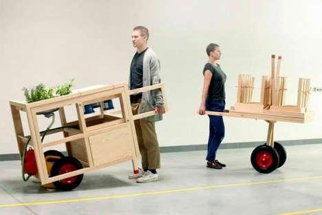 Wooden Wheelbarrow Kitchens