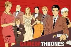 Fantastical Tv Show Mashups - Kyle Hilton's Parody Drawings of Game of Thrones is Bound Hit a Nerve