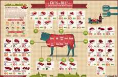 Informative Meat Eater Infographics - The Visual.ly Cuts of Beef Chart Breaks Down Cuts of Chuck