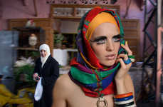 Haute Hijab-Clad Editorials - The Jeff orGina TWILL Fashion Story Explores Middle Eastern Traditions
