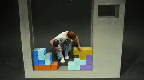 Building Block Chalk Art
