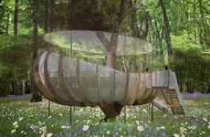 Eco Urban Tree Houses - These High-Tech Tree Houses Bring Green Shelter to Urban Areas