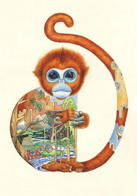 Landscape Zoological Illustrations
