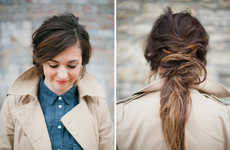 Messy DIY Hair Tutorials - The Spring Beauty Deconstructed Ponytail Guide Focuses on the Unkempt