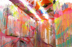 Chromatically Splattered Expressionist Installations - Rowena Martinich's Work Makes a Statement