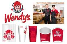 Burger Chain Rebrandings - The New Wendy's Logo Highlights Clean Lines and a Fresh Face