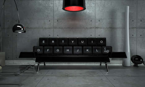 Sleek Keyboard-Shaped Loungers
