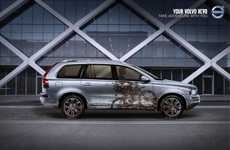 "Sullied Auto Ads - The Volvo XC90 Campaign Urges People to ""Take Adventure with You"""