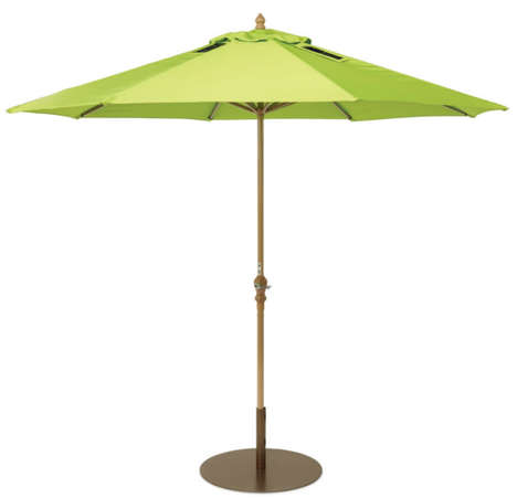 Solar-Paneled Patio Umbrellas