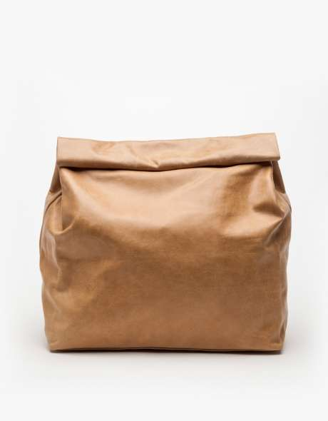 Luxe Leather Lunch Bag Clutches
