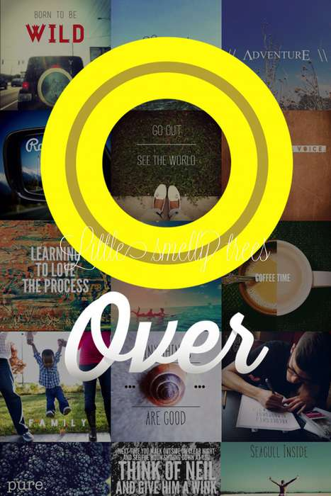 Beautiful Typography Photo Apps - The Over App Allows Smartphone Users to Overlay Fonts on Pictures