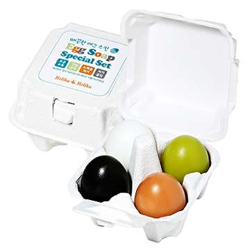 Funky-Flavored Egg Soaps - Holika Holika Presents Creative Design Packaging