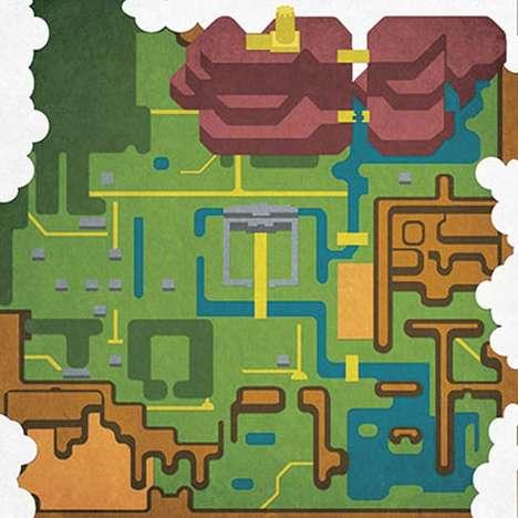 Artisitic Pop Culture Maps