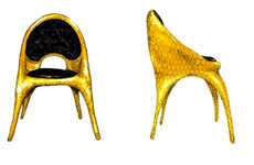 Bedazzled Designer Chairs - This Home Furniture Line is by Donatella Versace and the Haas Brothers