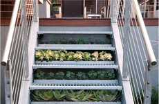 Garden-Infused Staircases - The Ars Technica Staircase Project Includes Plants Under Each Step