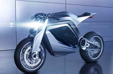 Luxury Car Motorcycle Hybrids - These Concept Designs Combine Ducati and Audi in Sleek Fashion