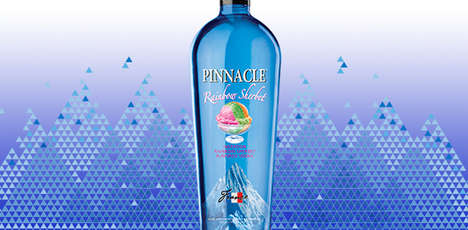 Ice Cream-Flavored Alcohol - Pinnacle Has Just Released a New Rainbow Sherbet Flavored Vodka